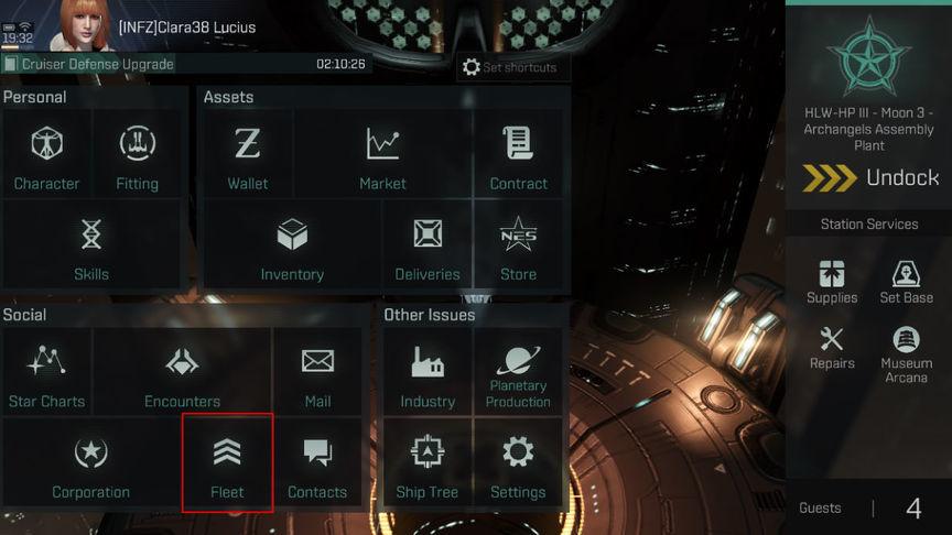 Eve Echoes Как создать Флот и как покинуть Флот