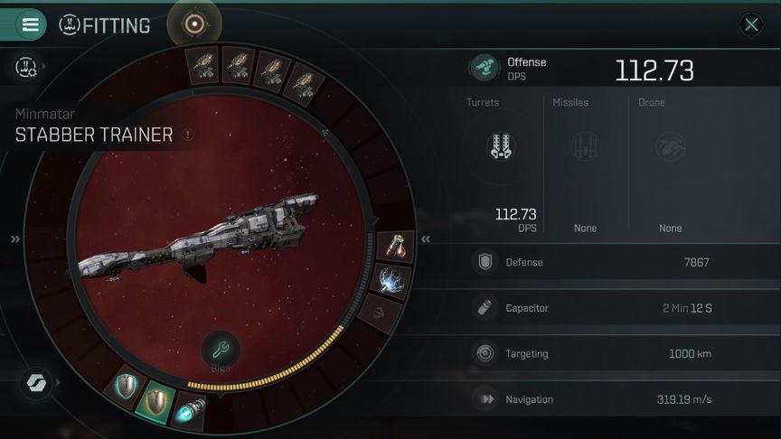 Eve Echoes Stabber рекомендуемая оснастка корабля (fit)