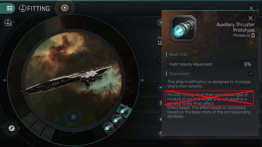 Eve Echoes гайд по штрафам за модули и такелажи одного типа