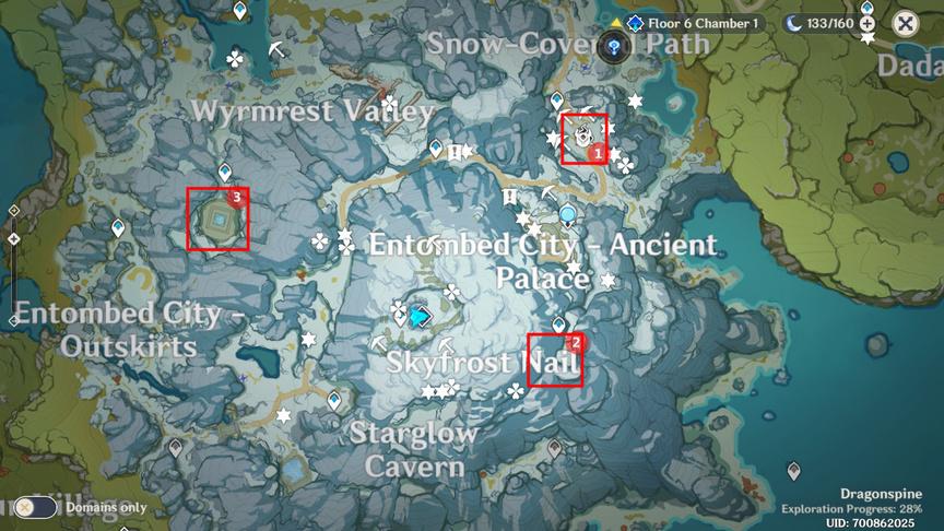 Genshin Impact Квест В горах Растопите все замерзшие фрагменты Пик Виндагнира
