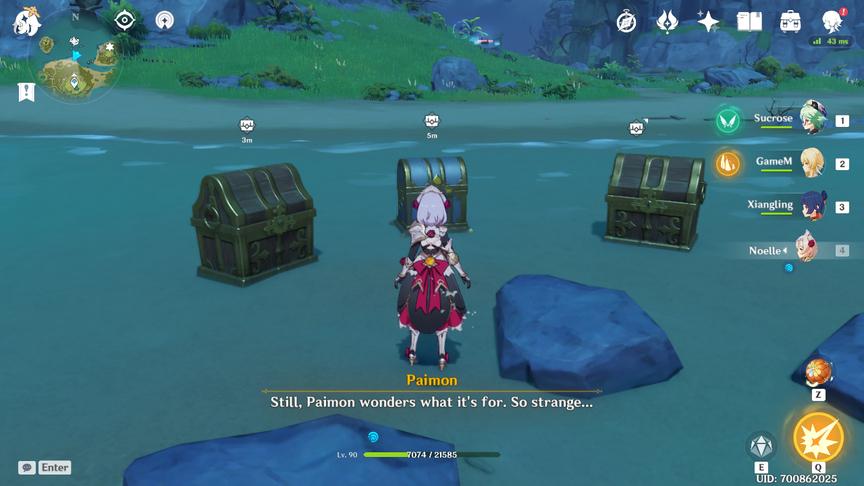 Genshin Impact Головоломка Изломанного острова Бассейны с метками