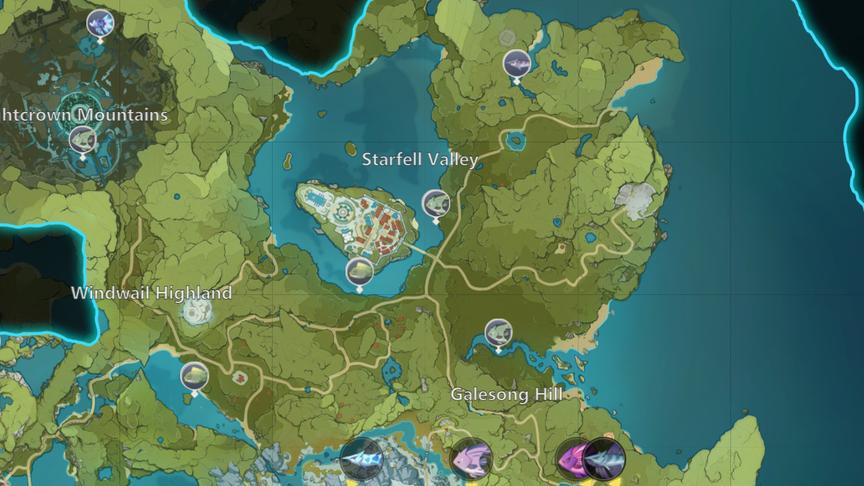Genshin Impact 2.0 Рыбалка Карта рыбных мест