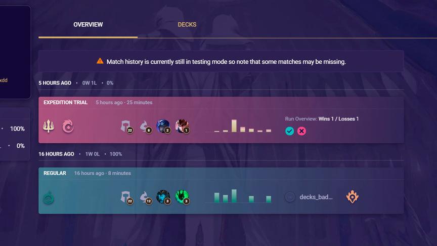 Legends of Runeterra Проверить статистику матчей
