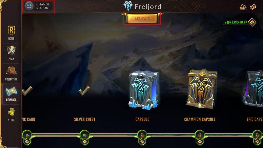 Legends of Runeterra Как сменить регион