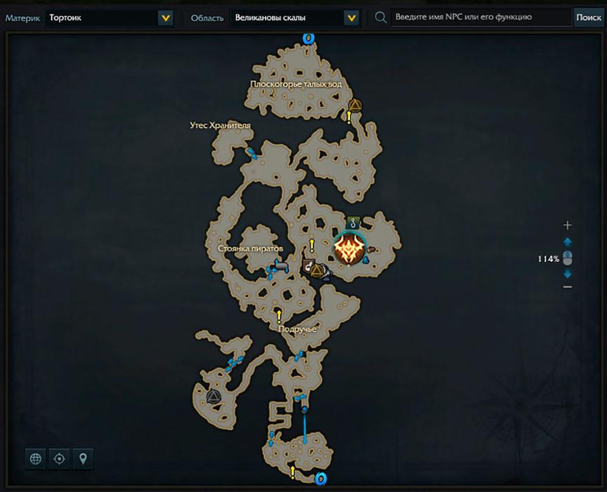 Lost Ark местонахождение Касфаэля на карте
