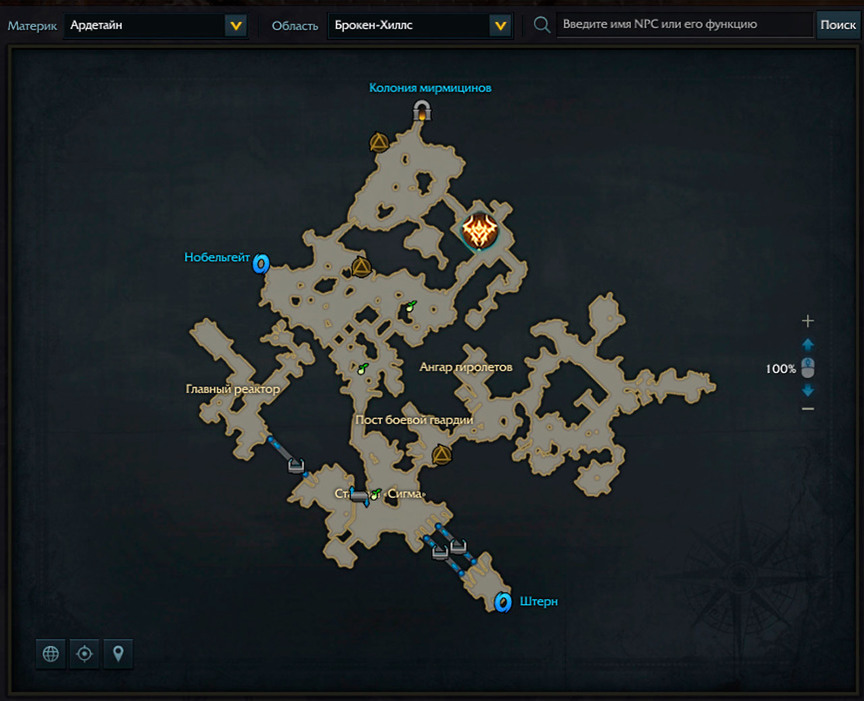 Lost Ark местонахождение Проект VLZ-VUL на карте
