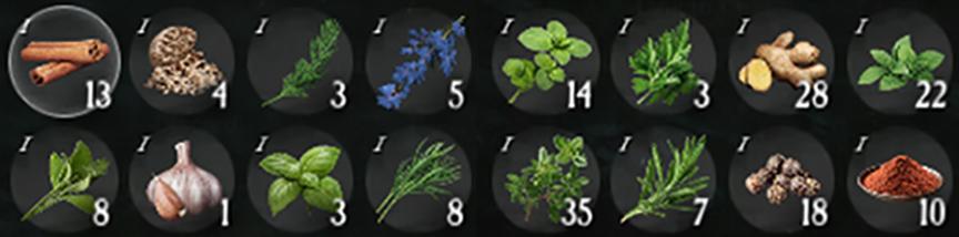 New World Травы (Herbs) Ингредиенты для приготовления еды