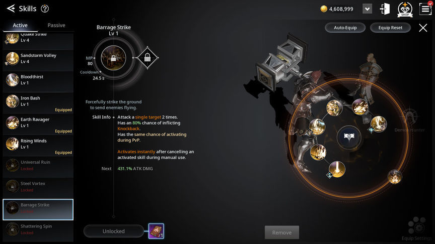 V4 Билд умении класса Воитель (Warlord)
