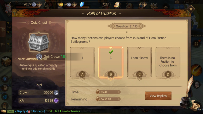 How many Factions can players choose from in Island of Hero Faction Battleground? Path of Erudition