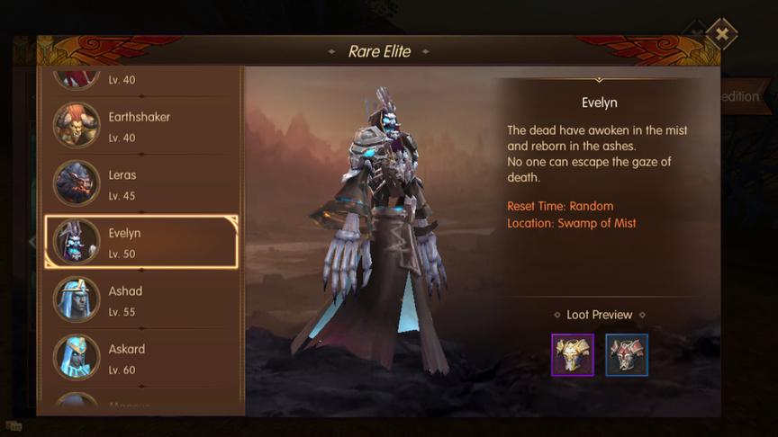 Evelyn Rare Elite World of Kings