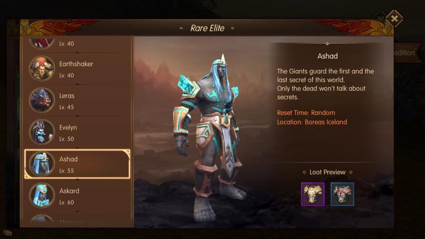 Ashad Rare Elite World of Kings