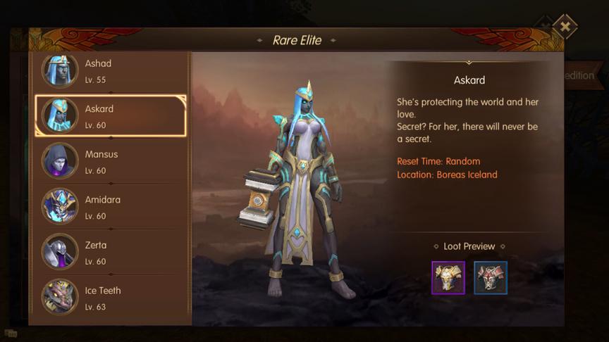Askard Rare Elite World of Kings