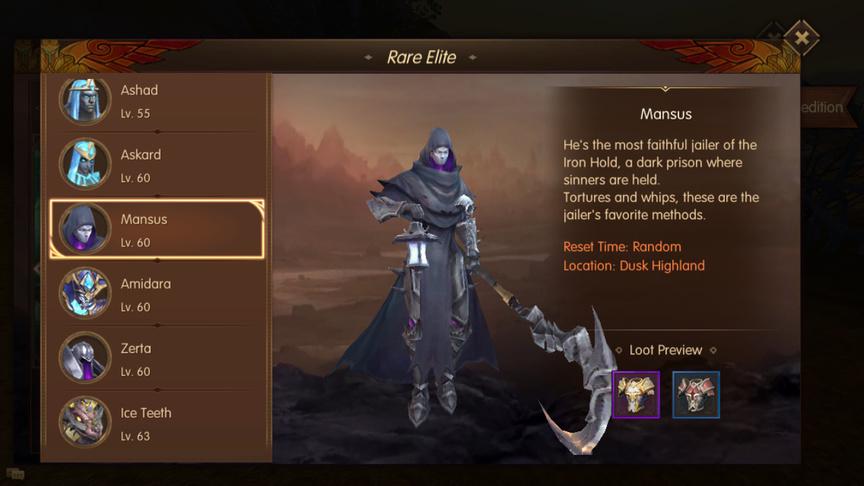 Mansus Rare Elite World of Kings
