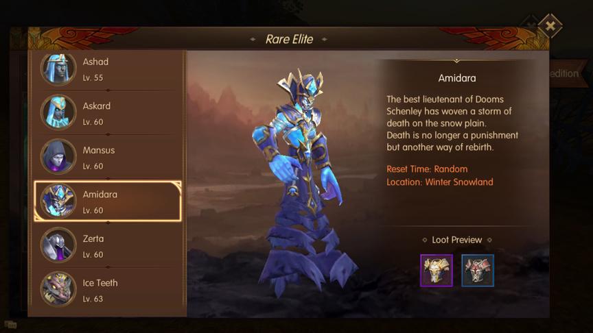 Amidara Rare Elite World of Kings