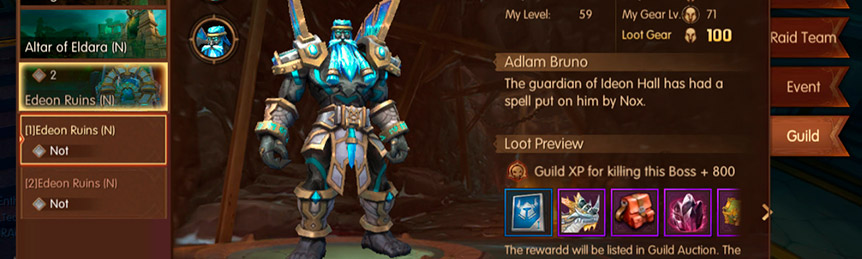 Guild Boss Adlam Bruno